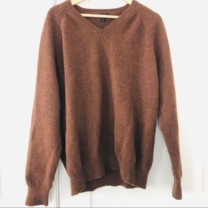 J crew lambs wool sweater v neck pull over